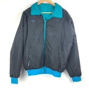 Vintage COLUMBIA Reversible Jacket Large black o5